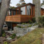 Lujosos revestimientos de madera en la residencia Carmel diseñado por Dirk Denison Architects