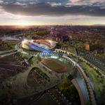 Estadio Incheon para los juegos asiáticos 2014 diseñado por Populous (8 imágenes)