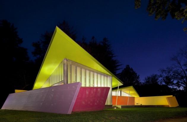 La casa shelter island estilo cubista y colorido en new - Cubismo arquitectura ...
