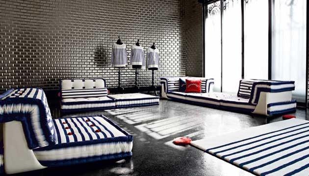 muebles estilo nautico de roche bobois tikinti. Black Bedroom Furniture Sets. Home Design Ideas