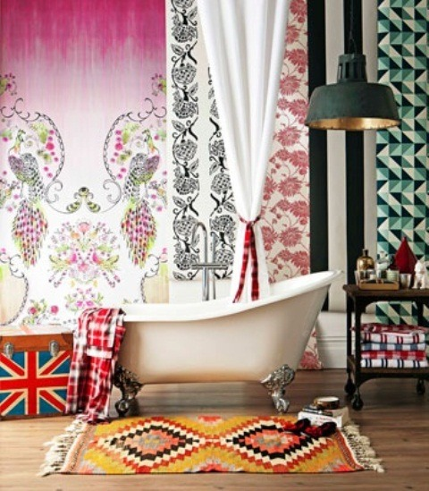 Baños Estilo Bohemio:Bohemian Bathroom Decorating Ideas
