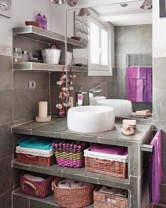 Baños Estilo Bohemio:Bohemian Chic Bathroom Ideas
