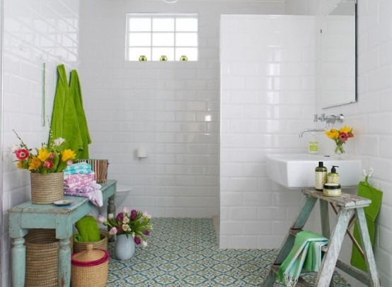 Baños Estilo Bohemio:Bohemian Bathroom Design Idea