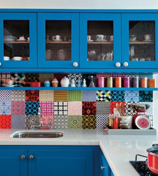 36 diseños de cocinas pequeñas y coloridas | Tikinti