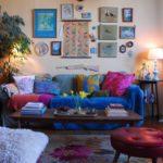 51 diseños de salas pequeñas estilo bohemio