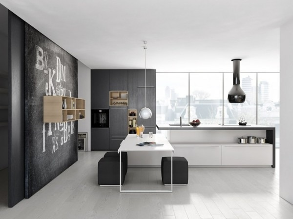 6 cocinas minimalistas tikinti for Cocinas italianas equipadas