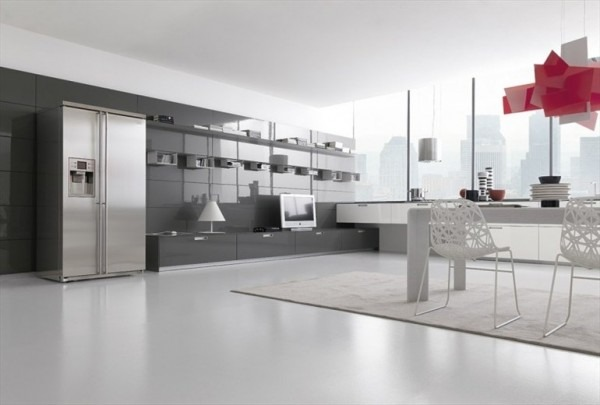 6 cocinas minimalistas tikinti for Diseno de cocinas minimalista