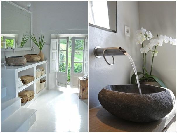 10 dise os de fregaderos o lavatorios para su ba o y cocina tikinti - Fregaderos ceramica rusticos ...