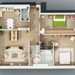 23 Planos 3D de Apartamentos, realmente impresionantes