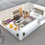 47 Planos de Apartamentos de 01 Dormitorio