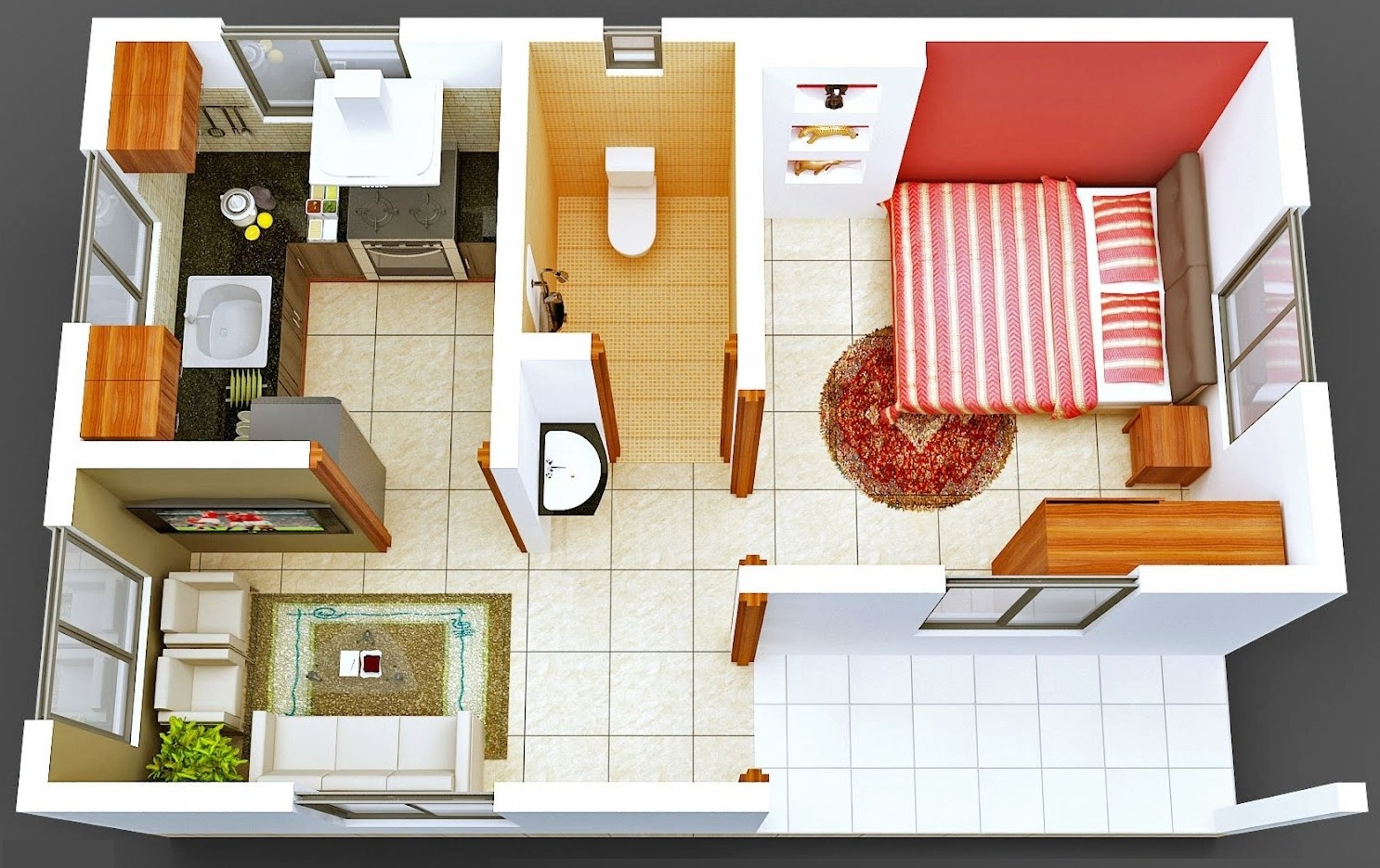 47 Planos De Los Apartamentos 1 Dormitorio on 6x6 bathroom floor plan