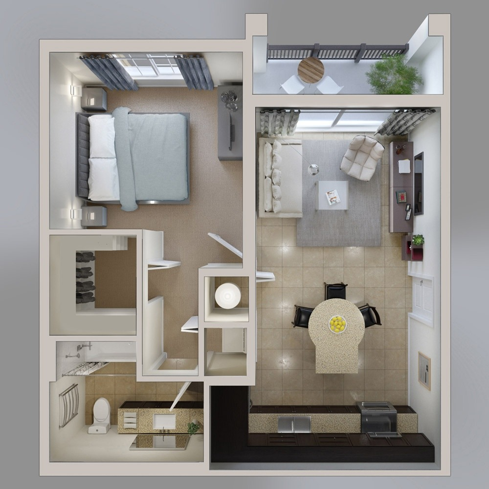 1 bedroom house with loft  Pablo Campaño pablocampano on Pinterest