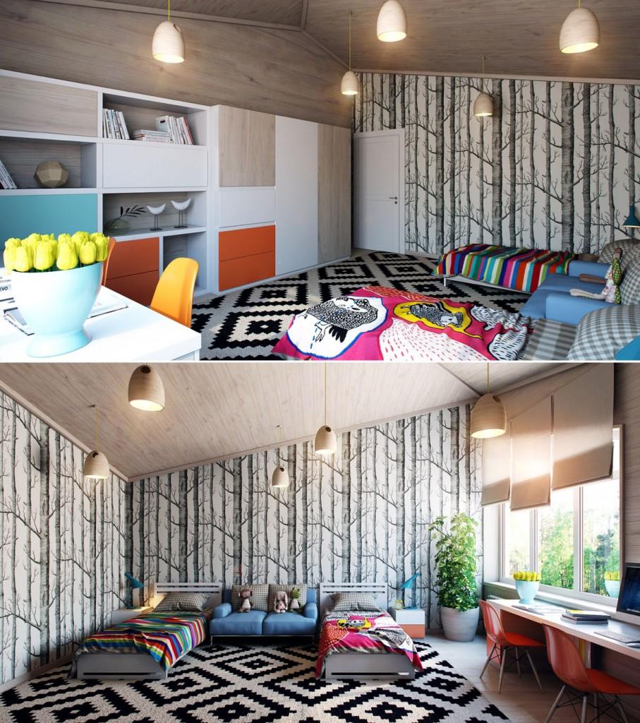 dormitorios de niños artisticos tikinti (2)