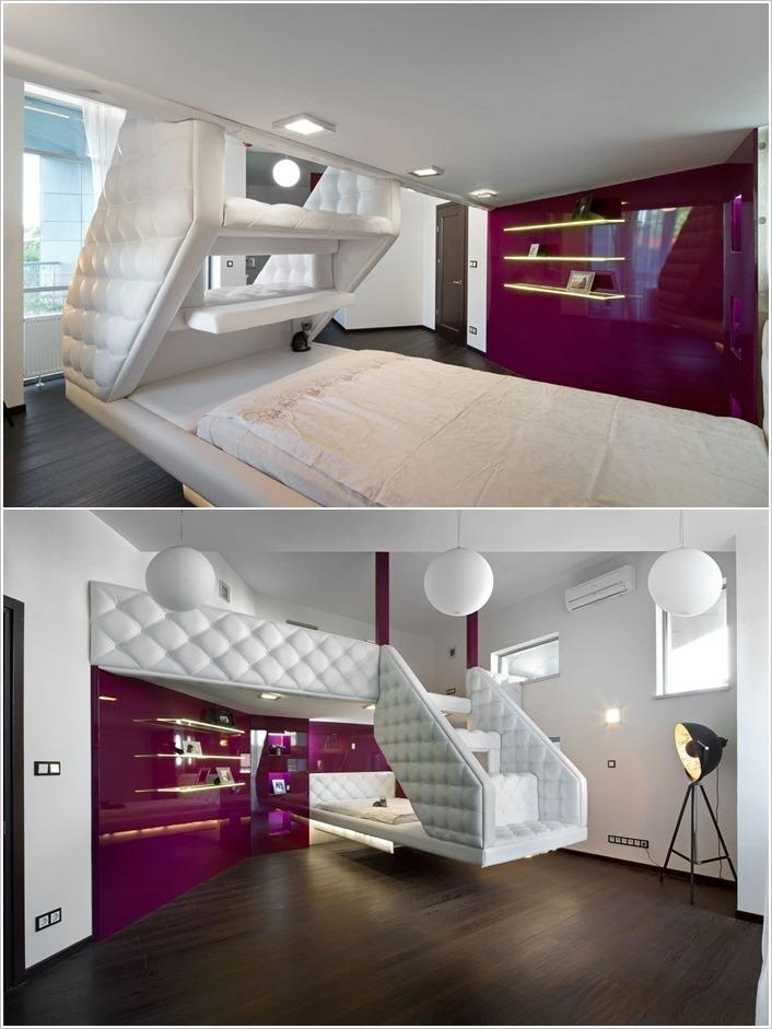 10 Diseños de Dormitorios junto a una una escalera | Tikinti