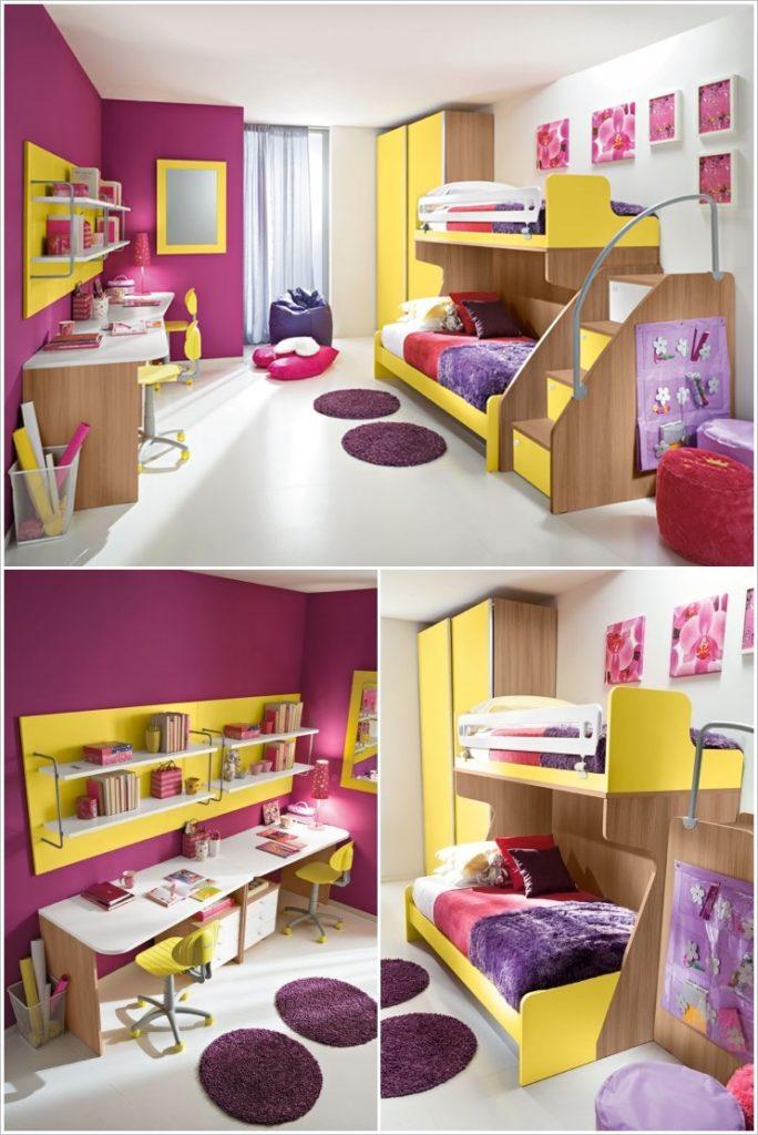 8 ideas de habitaciones para ni os decoraci n alegre y for Modelos de dormitorios para ninos