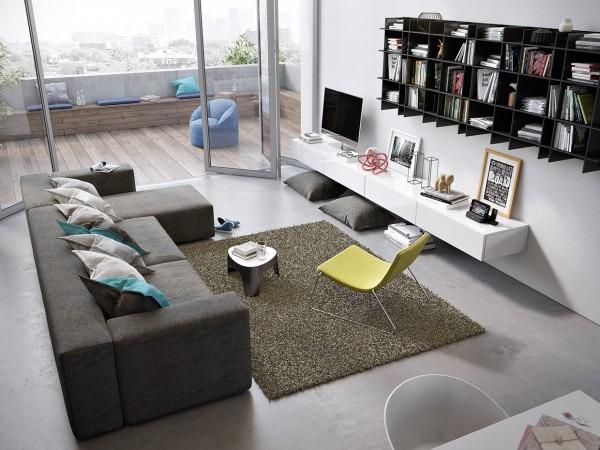 Impresionantes y elegantes salas modernas tikinti for Muebles salas contemporaneas