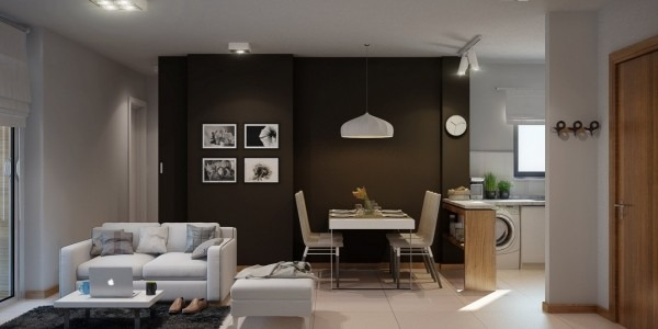 23 apartamentos sin divisiones interiores una vida sin for Decoracion mini departamentos