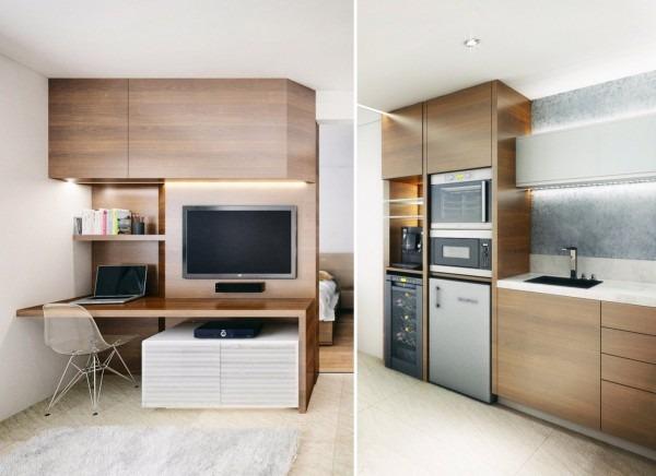 Peque os departamentos sin divisiones interiores tikinti for Apartamentos minimalistas pequenos