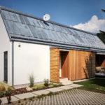 Casa hecha con ladrillos de madera